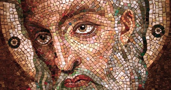 image of Moses in mosaic tile